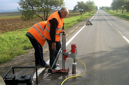 Geotechnical surveys for roads
